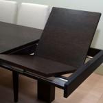 Τραπέζι δρυς wenge με πόδι (10cm X17cm) και ανοιγόμενα φύλλα (κωδ ΤΡ601)