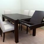 Τραπέζι δρυς wenge με πόδι (9cm X9cm) και ανοιγόμενα φύλλα (κωδ.ΤΡ 602)