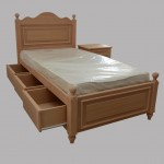 Κρεβάτι από οξυά με συρτάρια (κωδ. κπ201)