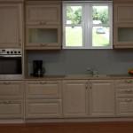 Κουζίνα με πορτάκι δρυς με πλαίσιο σε κλασική γραμμή