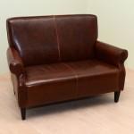 Διθέσιος καναπές με ταμπά τεχνόδερμα (κωδ Σ 104)